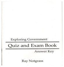 NOTGRASS GOV QUIZ/EXAM KEY