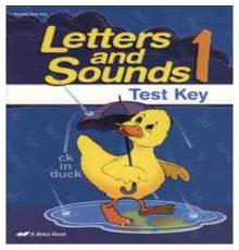 ABEKA LETTERS & SOUNDS TEST KEY