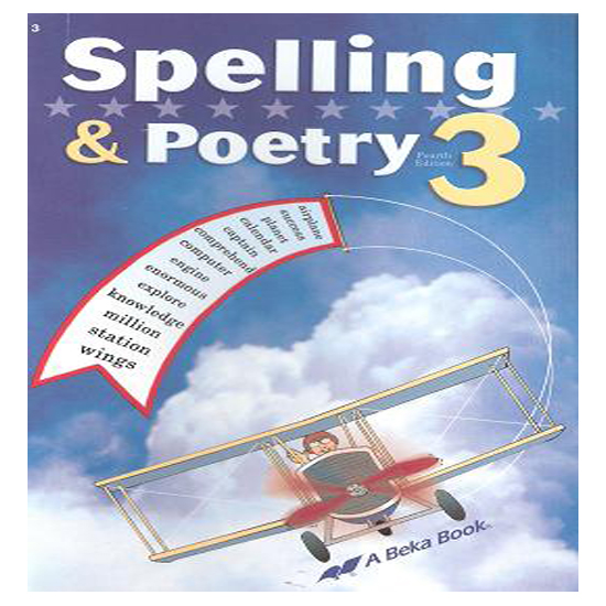 ABEKA SPELLING POETRY 3 Second Harvest Curriculum