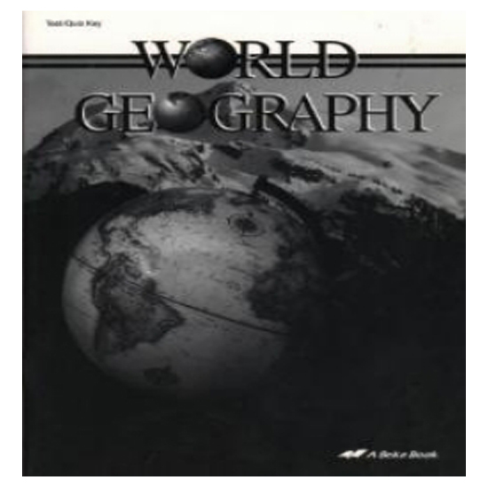 ABeka World Geography Teacher Quiz/Test Key 9th Grade Current Ed. Free Ship