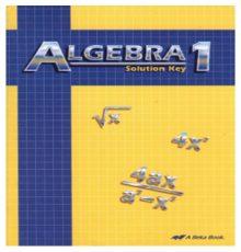 ABEKA ALGEBRA 1 SOLUTION KEY