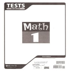 BOB JONES MATH 1 TESTS