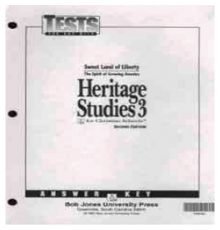BOB JONES HERITAGE STUDIES AK