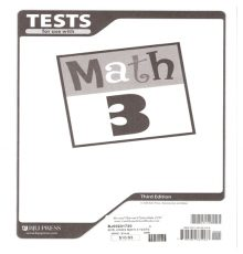 BOB JONES MATH 3 TESTS