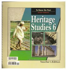 BOB JONES HERITAGE STUDIES 6 TE