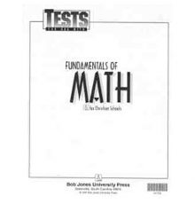 BOB JONES  MATH TESTS