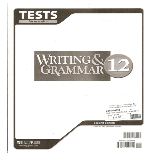 Bob Jones Writing and Grammar 11 Subject Kit, 3rd edition - brand new