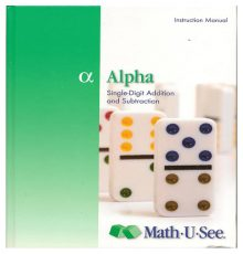 MATH U SEE  ALPHA  INSTRUCT MAN