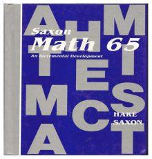 SAXON MATH 65 TEXT