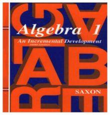 SAXON ALGEBRA 1 STUDENT TEXT