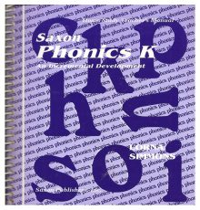 SAXON PHONICS K TEACHERS MANUAL