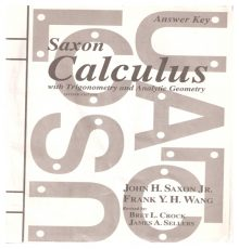 SAXON CALCULUS ANSWER KEY