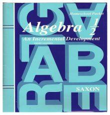 SAXON ALGEBRA 1/2 PACK  W/ TEST