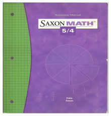 SAXON MATH 5/4 SOLUTIONS MANUAL
