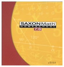 SAXON MATH 7/6 STUDENT TEXT