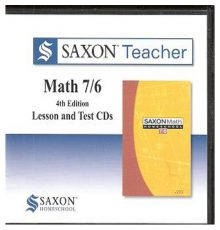 SAXON MATH 76 LESSON TEST/CD'S